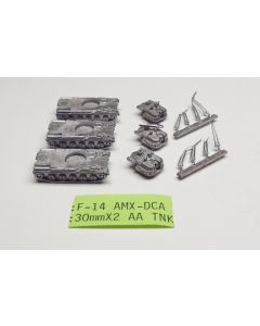 C in C F-14 AMX-DCA 30 mm X 2 AA Unpainted 1/285 Scale Gaming Miniature