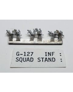 C in C G-127 Infantry Squad Standing Unpainted 1/285 Scale Gaming Miniature