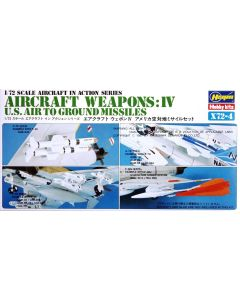 Hasegawa 35004 US Aircraft Weapons IV 1/72 Scale US Air to Ground Missiles