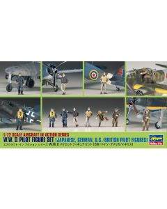 Hasegawa 35008 WWII Pilots 1/72 Scale Plastic Model Figures