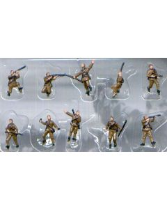 Pegasus 0853 WWII Russian Infantry 1/144 Scale Painted Plastic Model Figures