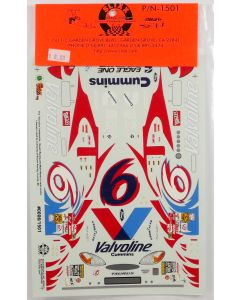 Slixx Decals T1501 #6 Mark Martin Valvoline Taurus Decal Set