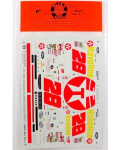 Slixx Decals #28 Robert Yates & Kenny Irwin Texaco Taurus NASCAR Model Decals
