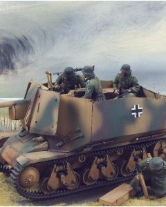 Military Diorama Background 'Distant Fire' Hand-Painted Original