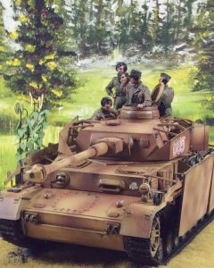Military Diorama Background 'Spring Forest' Hand-Painted Original