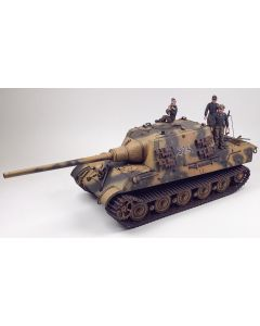 WWII German Jagdtiger with Crew Figures & Dog Built-Up 1/35 Scale Plastic Model Kit