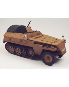 WWII German Sd.Kfz. 250/1 with Tarp Built-Up 1/35 Scale Plastic Model Kit