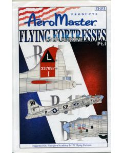 AeroMaster 72-212 Flying Fortresses over Europe Part 1 1/72 Scale Decal Set