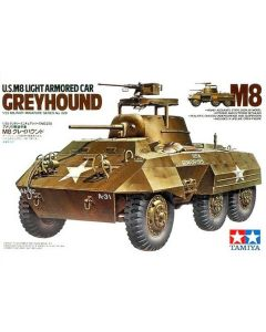 Tamiya 35228 WWII US M8 Greyhound Light Armored Car 1/35 Scale Plastic Model Kit