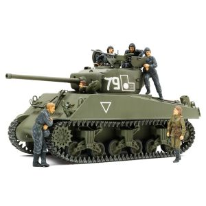 Tamiya 25105 M4A2(76)W Sherman 'Red Army' 1/35 Scale Model Kit with Figures